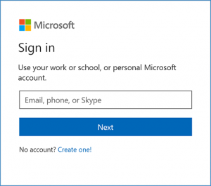 microsoft live screen login page